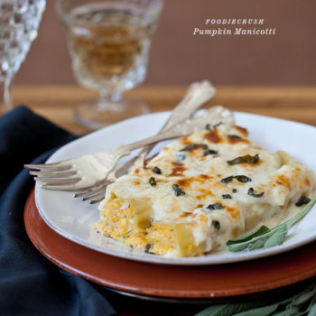 Pumpkin Manicotti from FoodieCrush