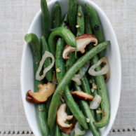 Green Beans and Shiitake Mushrooms from foodiecrush.com