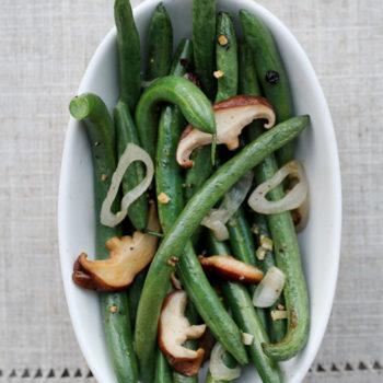 Green Beans and Shiitake Mushrooms from foodiecrush.com
