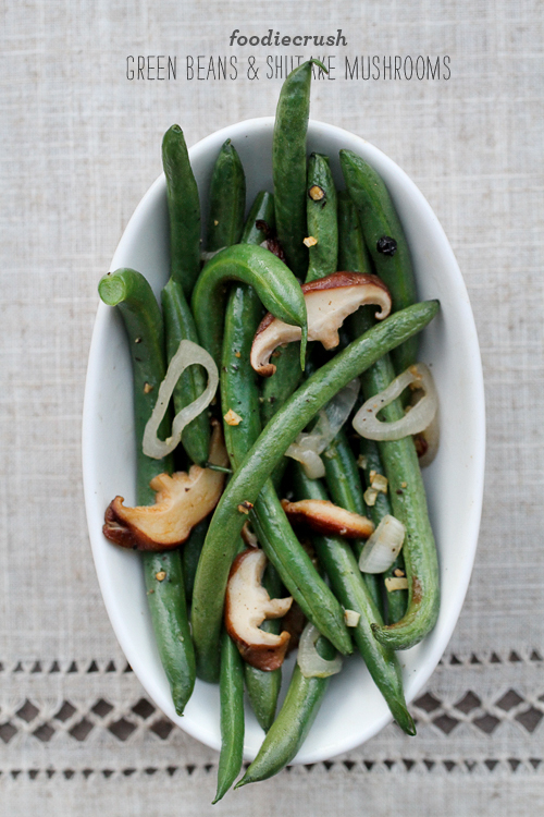 Green Beans and Mushrooms from foodiecrush.com