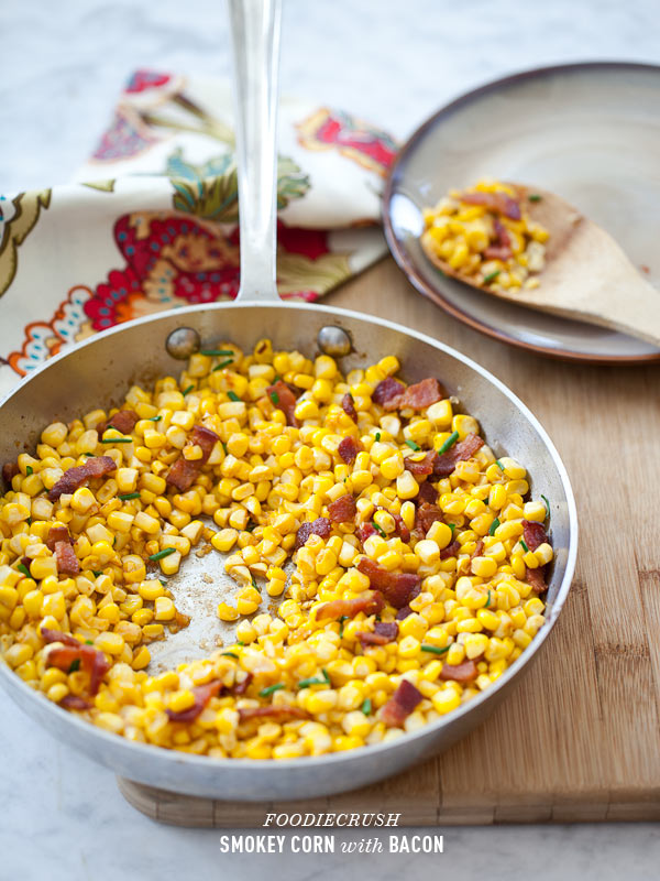 Sauteed Corn with Paprika and Bacon from foodiecrush.com