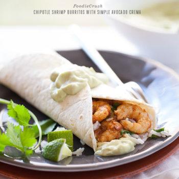 Chipotle Shrimp Burritos from foodiecrush.com