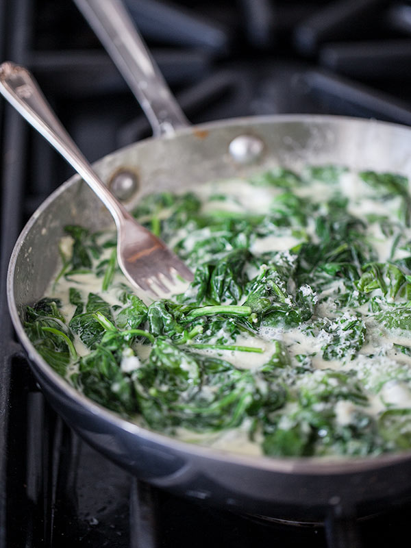 Stovetop Creamed Spinach from foodiecrush.com