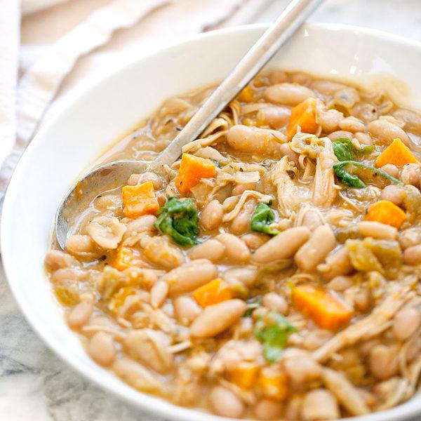 White Bean and Pumpkin Pork Chili | foodiecrush.com