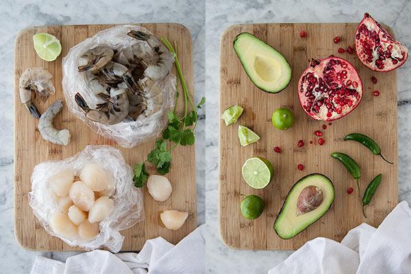 Ceviche Stuffed Avocados || FoodieCrush.com