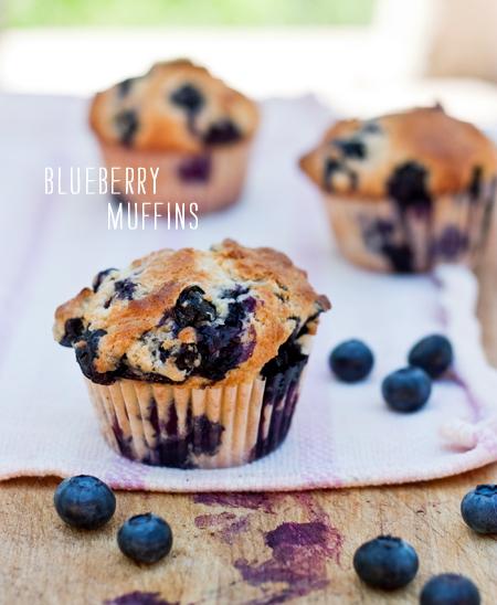 Blueberry Muffins    foodiecrush.com