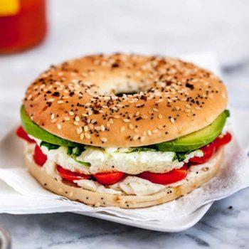 Microwave Egg Breakfast Sandwich foodiecrush.com