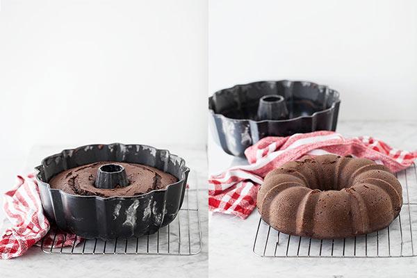 Devil's Food Cake with Espresso Ganache || FoodieCrush