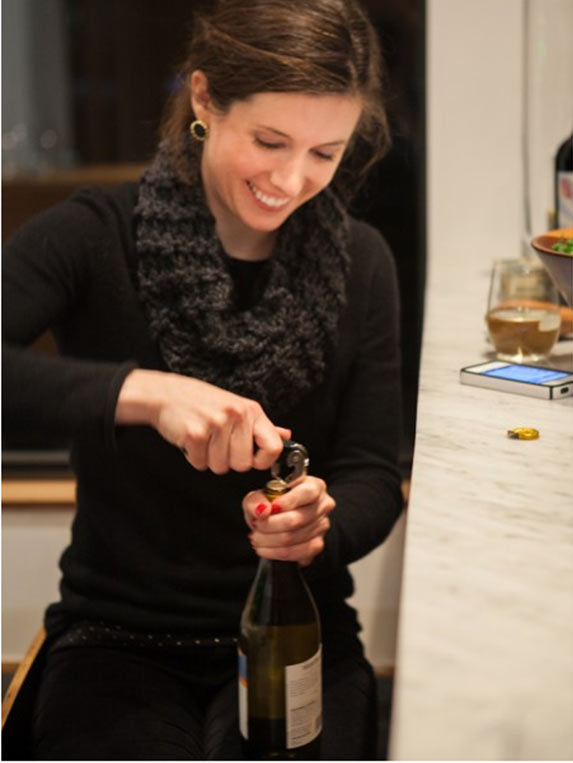 Kathryne knows what it takes for a fun dinner: big smiles and plenty of vino