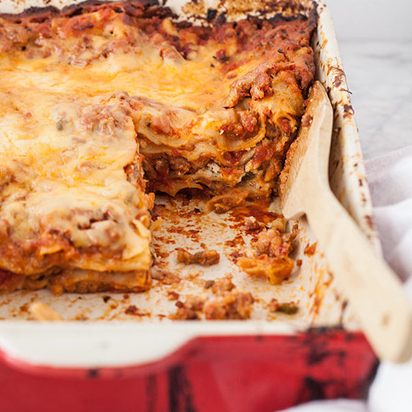 Sausage and Ricotta Lasagna | foodiecrush.com