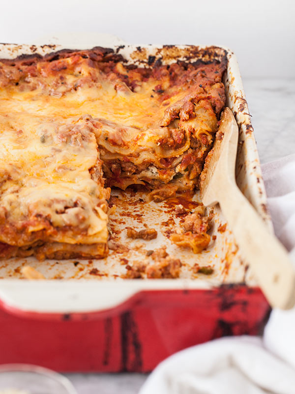Sausage Lasagna with Ricotta Cheese | FoodieCrush