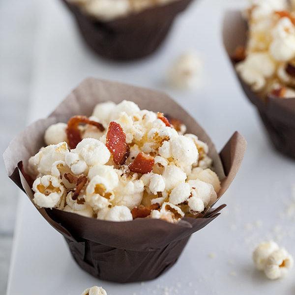 Truffle Bacon Popcorn || FoodieCrush #recipe