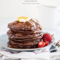 Chocolate Pancakes || FoodieCrush