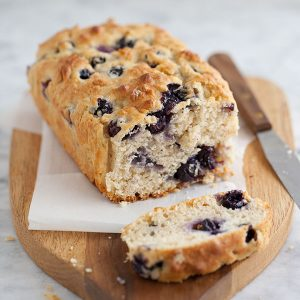 Blueberry Oatmeal Bread || foodiecrush.com