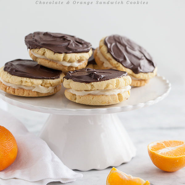 Chocolate and Orange Sandwich Cookies || FoodieCrush