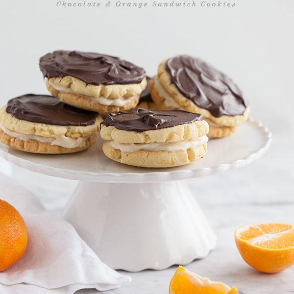 Chocolate and Orange Sandwich Cookies || FoodieCrush