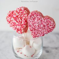 Rice Krispie Valentine Lollipops || FoodieCrush