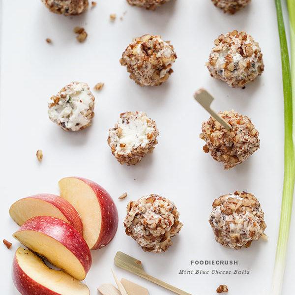 Mini Blue Cheese Balls   foodiecrush.com