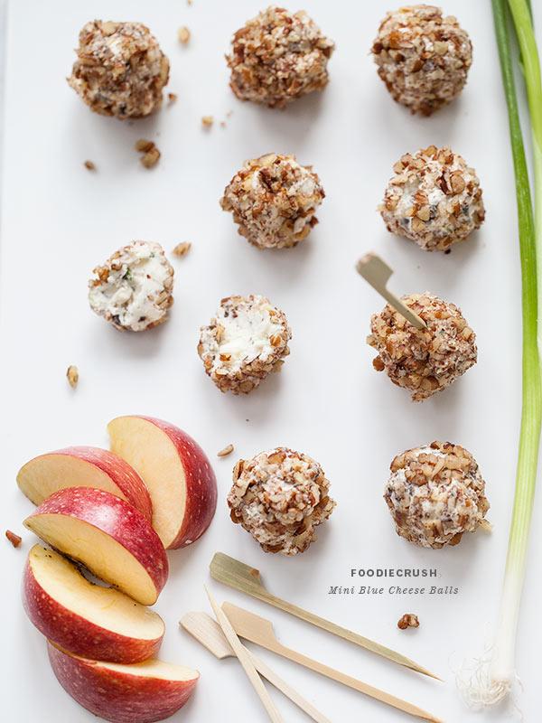 Mini Blue Cheese Balls | foodiecrush.com