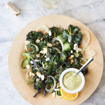 Roasted Kale Salad | FoodieCrush.com