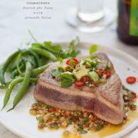 Seared Ahi Tuna || FoodieCrush.com