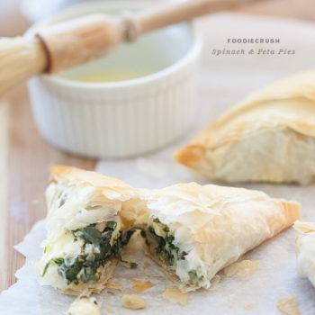 Spinach Feta Hand Pie || foodiecrush.com