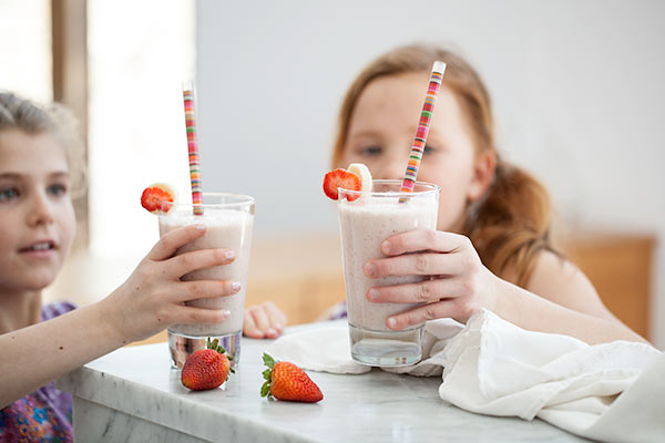 Strawberry Banana Shake | FoodieCrush.com