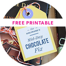 Chocolate Fix Printable from FoodieCrush.com ##escapewithdarkchocolate and @ghirardelli