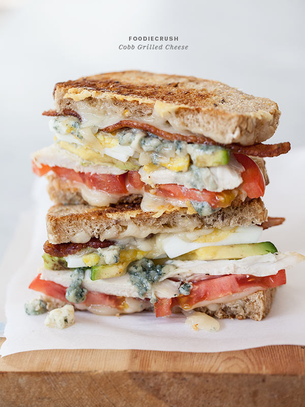 Cobb Grilled Cheese | FoodieCrush.com