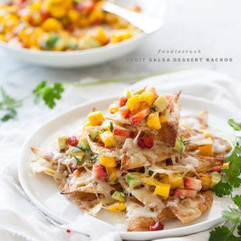 Dessert Nachos with Fruit Salsa | FoodieCrush.com