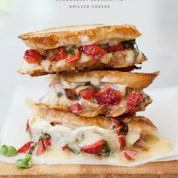 Strawberry Bruschetta Grilled Cheese | FoodieCrush.com