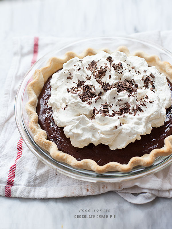 Chocolate Cream Pie | foodiecrush.com