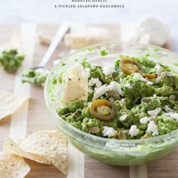 Roasted Garlic and Pickled Jalapeño Guacamole | foodiecrush.com-016