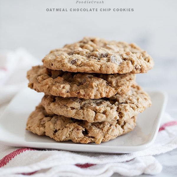 Oatmeal Chocolate Chip Cookies | foodiecrush.com