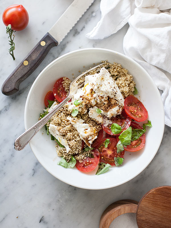 Quinoa Caprese Salad | foodiecrush.com