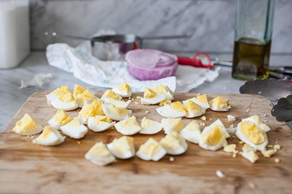 Roasted Potato Salad with Bacon Dressing | foodiecrush.com