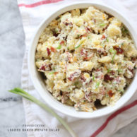 Loaded Baked Potato Salad | foodiecrush.com