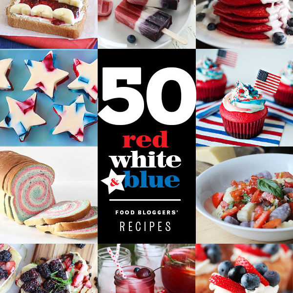 50 Red White and Blue Recipes | foodiecrush.com