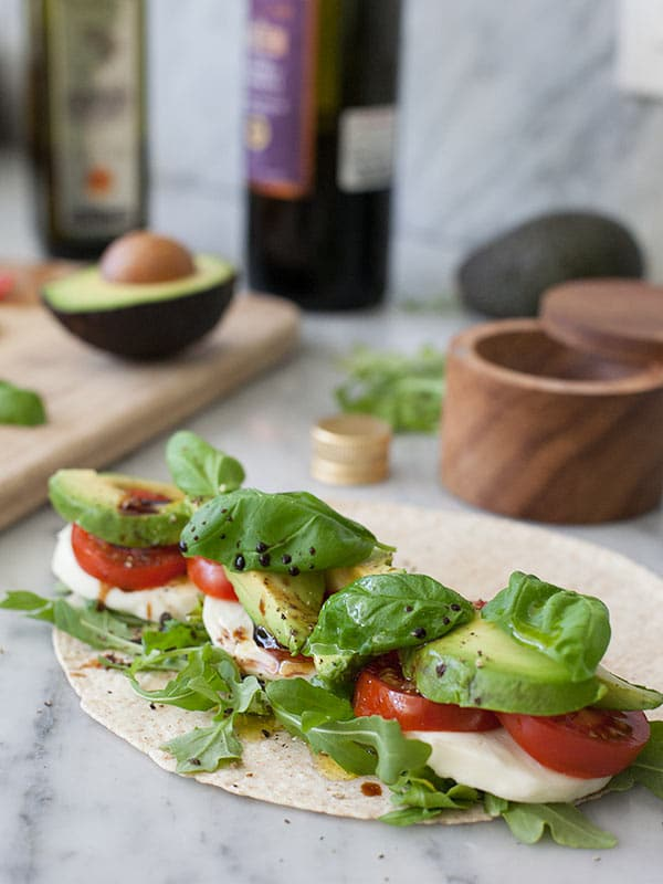 Avocado Caprese Wrap Foodiecrush