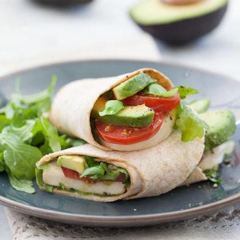 Avocado Caprese Wrap | foodiecrush.com