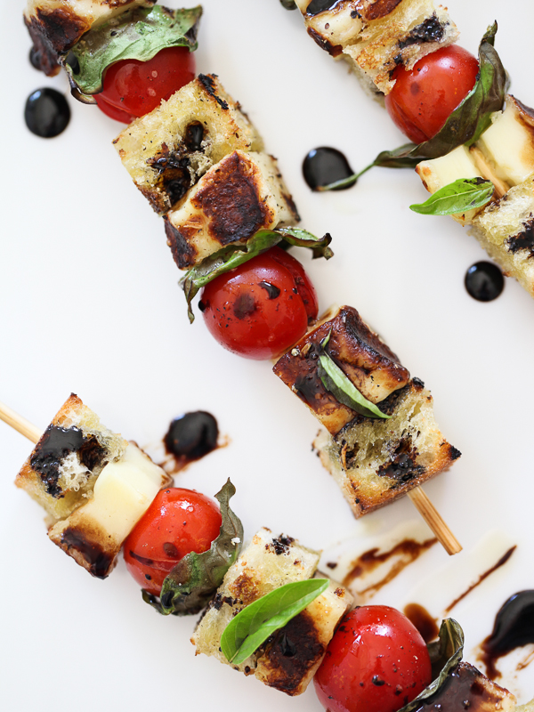 Grilled Caprese Skewers | FoodieCrush.com