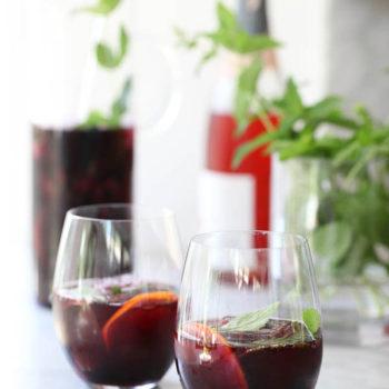 Roasted Cherry Sangria | foodiecrush.com