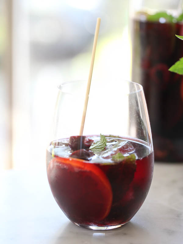 Roasted Cherry Sangria | foodiecrush.com