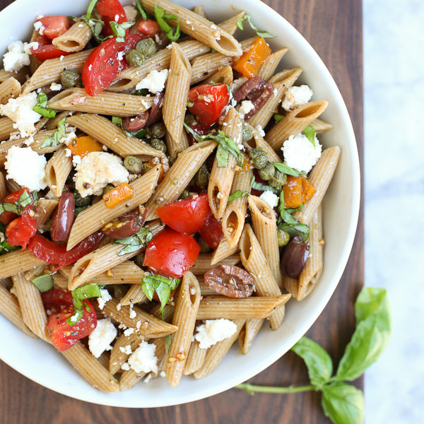 Greek Pasta Salad | foodiecrush.com