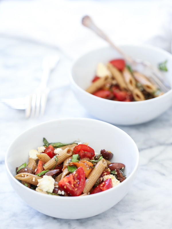 Greek Pasta Salad | foodiecrush.com