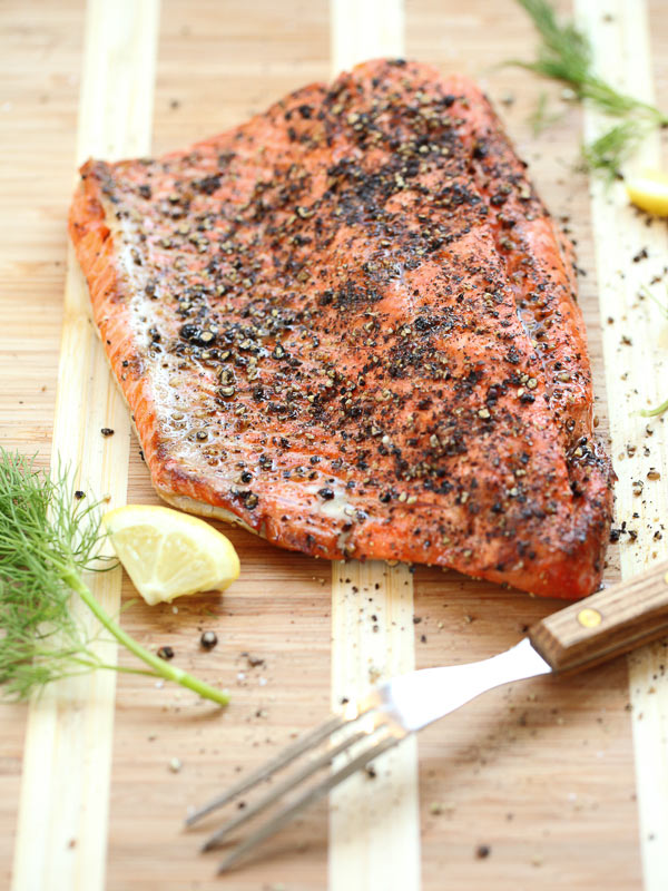 Grilled Salmon Fillet with Cucumber Dill Sauce | foodiecrush.com