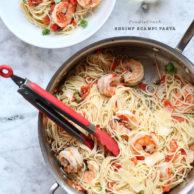 Shrimp Scampi Pasta | foodiecrush.com