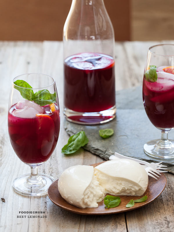 Beet Lemonade | foodiecrush.com