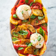 Burrata and Heirloom Tomato Caprese Salad | FoodieCrush.com