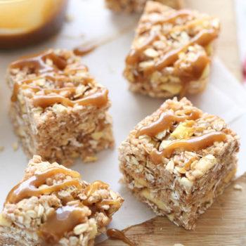 Apple and Oatmeal Rice Krispie Treats | foodiecrush.com